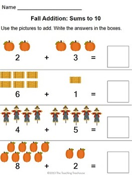 Fall Addition & Subtraction Within 10