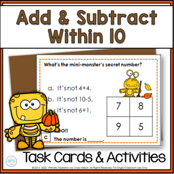 Fall Addition & Subtraction Task Cards