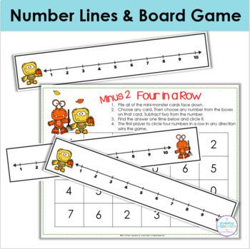 Autumn Addition & Subtraction Task Cards