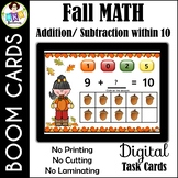 Fall Addition & Subtraction within 10 ● Digital Task Cards