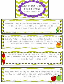 Fall Addition Word Problems