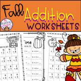 Fall Addition Worksheets