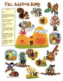 Fall Addition and Subtraction Bump Math Station Game (1.OA.6, 2.OA.2)