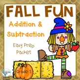 Fall Math Addition and Subtraction Fun Packet