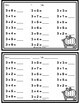 Fall Addition and Subtraction Practice Worksheet **NO PREP**