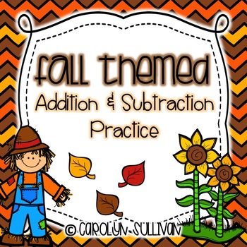 Fall Addition and Subtraction Sentences