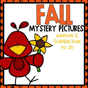 Fall Addition and Subtraction to 20 Mystery Pictures