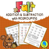 Fall Addition and Subtraction with Regrouping (Jokes & Riddles)