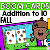 Fall Addition to 10 Math Centers   Digital Game Boom Cards