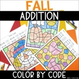 Fall Addition to 10  | No Prep Color By Number Activities