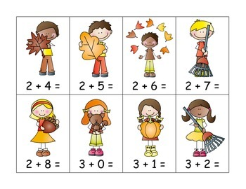 Fall Addition to 10 with Number Line