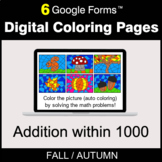 Fall: Addition within 1000 - Digital Coloring Pages | Goog