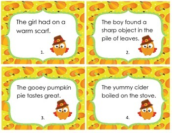 Fall Adjective Task Cards