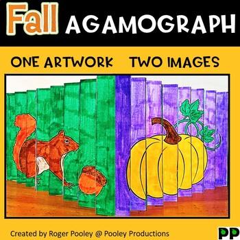 Fall Agamograph Art Activity
