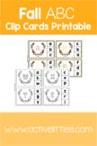 Fall Alphabet (ABC) Clip Cards Printable
