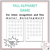 Fall Theme Letter Matching Game and Activity