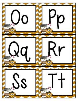 Fall Alphabet Cards