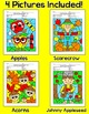 Fall Alphabet Color by Code Bundle - Johnny Appleseed, Scarecrow, Apples, Acorns