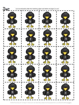 Fall Alphabet Kindergarten Special Education Autism Cut and Paste Fine Motor