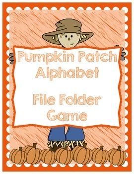 Fall Alphabet File Folder Game