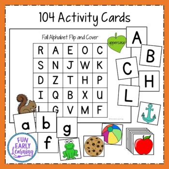 Fall Alphabet Flip and Cover Game