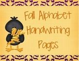 Fall Alphabet Hand Writing