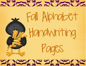 Fall Alphabet Hand Writing