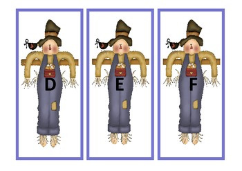 Fall Scarecrow ABC Letter Match
