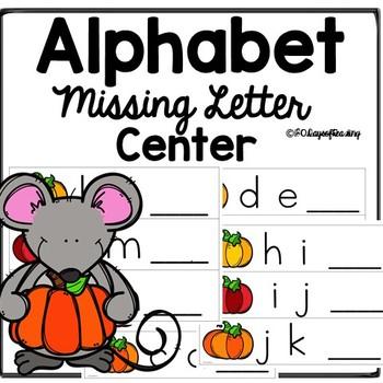 Fall Autumn Alphabet Missing Letter Center
