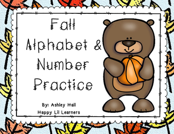 Fall Alphabet & Number Tracing Worksheets