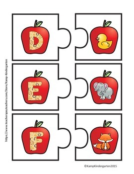 Fall Alphabet Puzzles
