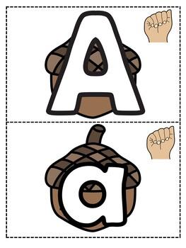 Fall Alphabet Tracing Cards for Pre-Writing Skills