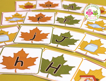 Fall Alphabet and Beginning Sound Cards