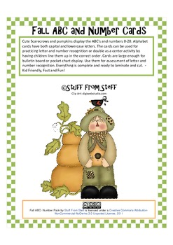 Fall Alphabet and Number Cards