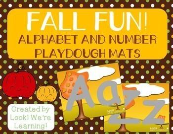 Alphabet and Number Playdough Mats - Fall Fun!