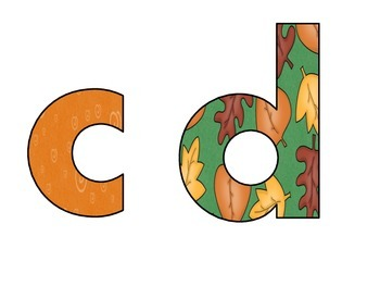 Fall Alphabet and Numbers (26 lower case letters and numbers 0-9) *FREEBIE*