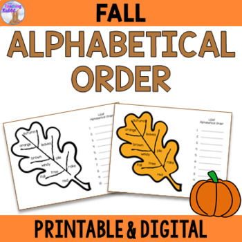 Fall Alphabetical Order Center