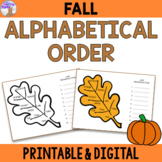 Alphabetical Order Center (Fall/Autumn) - Distance Learning