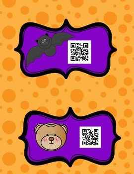 Fall Animal QR Code Stories w/  Graphic organizers and Printables