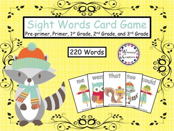 Fall Animals 220 Sight Words