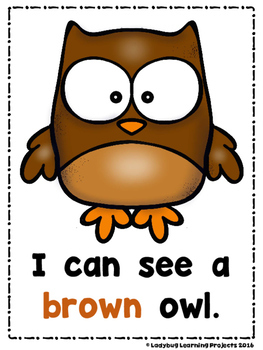Fall Animals  (A Sight Word Emergent Reader and Teacher Lap Book)