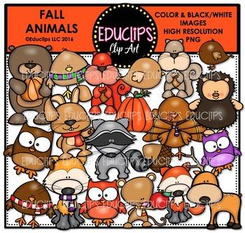 Fall Animals Clip Art Bundle  {Educlips Clipart}
