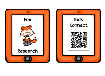 Fall Animals Research QR Codes - 11 Different Fall Animals