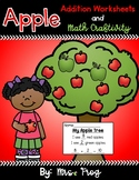 Fall Apple Addition Worksheets and Apple Tree Craftivity