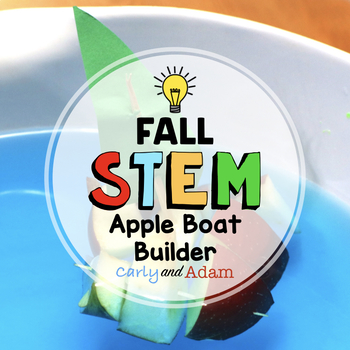Fall Apple Boat Buoyancy STEM Activity