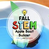 Apple Boat Builder Autumn STEM Activity Distance Learning Digital