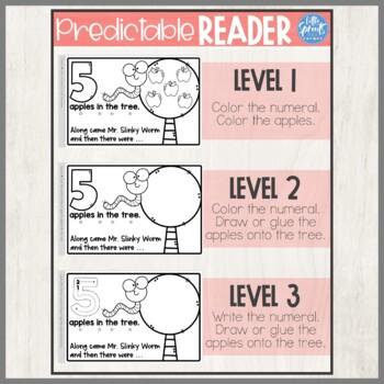 Apple Emergent Reader / Apple Minibook - PreK, Kindergarten, Preschool, Pre-K