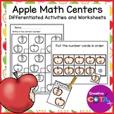 Fall Apple Math Centers Differentiated Activities