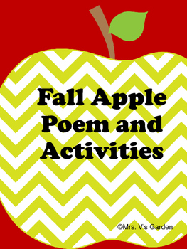 No Prep Fall Apple Poem and Activities