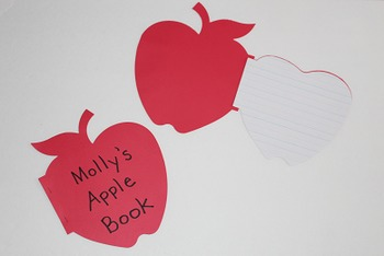 Fall Apple Writing Book Project (set of 12)